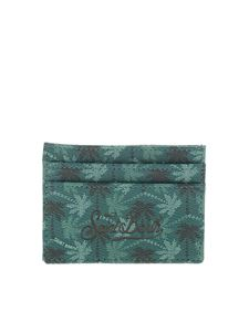 MC2 Saint Barth - Embossed logo card holder in green