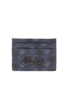MC2 Saint Barth - Embossed logo card holder in blue
