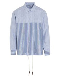 Ambush - Striped Drawstring shirt in light blue