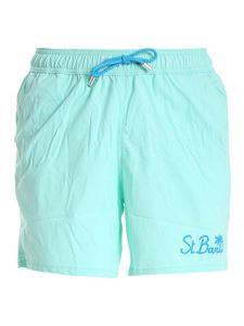MC2 Saint Barth - Gustavia Pocket swim shorts in water green