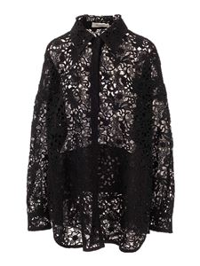 Valentino - Lace shirt jacket in black
