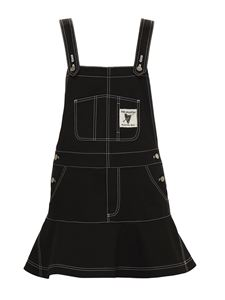 Red Valentino - Cotton dungarees in black