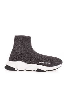 Balenciaga - Sneakers Speed Recycled nere e bianche