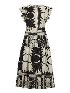 Red Valentino - Damier printed dress in black and white