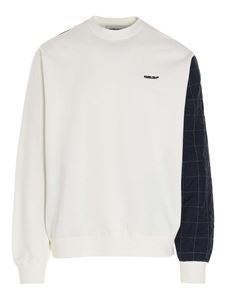 Ambush - Mix Quilted Fleece sweatshirt in white and blue