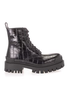 Balenciaga - Strike 20 mm ankle boots in black