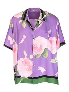 Valentino - Flying Flowers Bowling shirt in purple