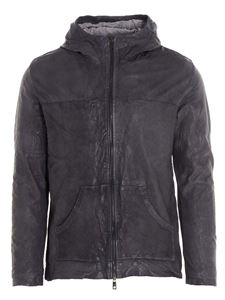 Giorgio Brato - Wrinkled leather jacket in grey