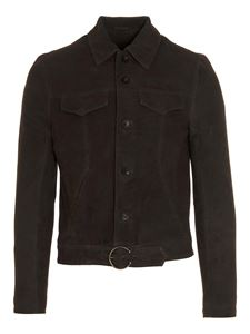 Giorgio Brato - Belt suede jacket in dark green