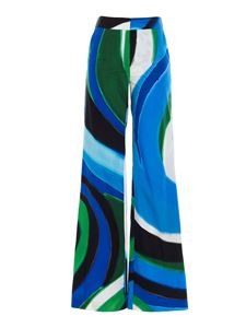 Gianluca Capannolo - Valerie pants in blue and green