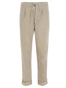 Incotex - Drawstring trousers in beige