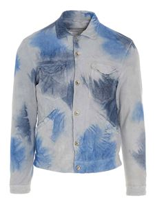 Giorgio Brato - Tie-dye jacket in blue light blue and white