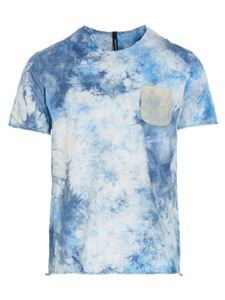 Giorgio Brato - Tie dye effect T-shirt in light blue