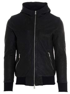 Giorgio Brato - Drilled leather jacket in black