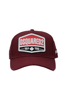 Dsquared2 - Used effect baseball cap in red