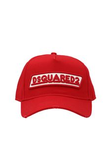 Dsquared2 - Logo patch baseball cap in red