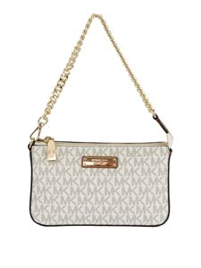 Michael Kors - Leather chain clutch in white