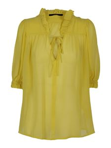 Seventy - Cotton and silk blouse in yellow