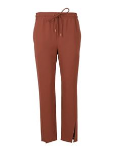 Theory - Tech fabric pants in brown