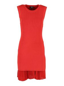 Theory - Ribbed dress in red