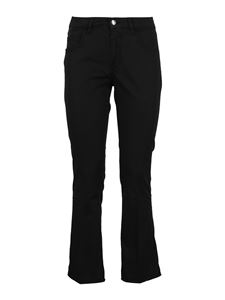 Fay - Black cotton flared trousers