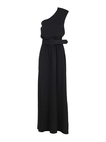 Federica Tosi - One-shoulder cotton dress in black