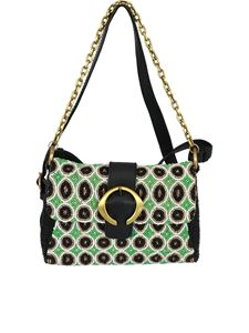Malìparmi - Beads embroidered bag in green and black