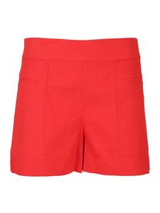 Theory - Shorts in misto lino rossi