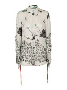Victoria Beckham - Floral patterned shirt in black and white