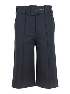Victoria Beckham - Tech fabric culotte pants in Navy