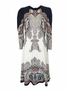 Etro - Paisley dress in blue and white