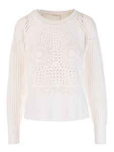 Chloé - Crochet sweater in white
