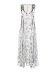 Chloé - Floral pattern dress in white