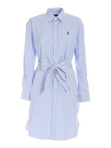 POLO Ralph Lauren - Striped dress in light blue and white