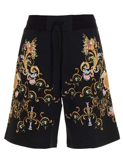 Versace Jeans Couture - Shorts con stampa neri