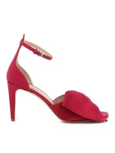 Red Valentino - Red satin heeled sandals