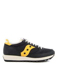 Saucony - Jazz 81 sneakers in black and yellow