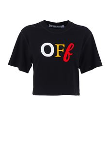 Off-White - Off cropped t-shirt in black