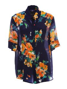 Moschino Boutique - Floral shirt in blue