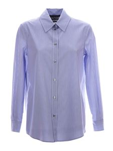Moschino Boutique - Striped shirt in blue and white