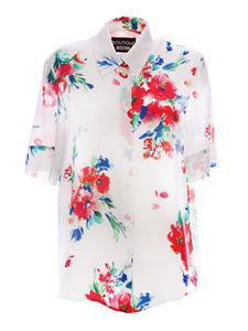 Moschino Boutique - Floral shirt in white