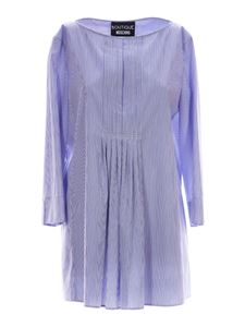 Moschino Boutique - Striped blouse in blue and white