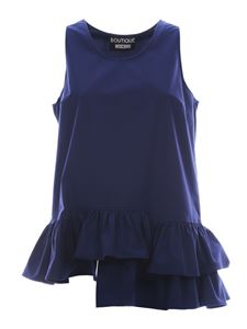 Moschino Boutique - Flounced top in blue