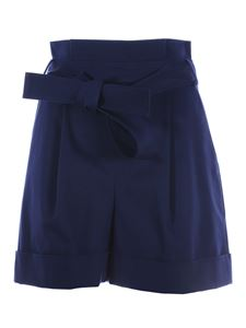 Moschino Boutique - Turned-up bermuda shorts in blue