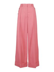 3.1 Phillip Lim - Viscose-wool palazzo trousers in pink