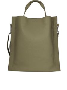 Orciani - Iris Soft grainy leather tote bag verde