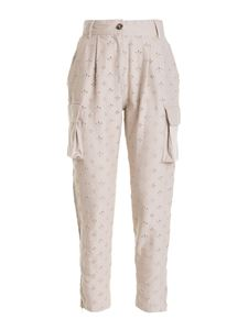Ermanno by Ermanno Scervino - Broderie anglaise trousers in beige