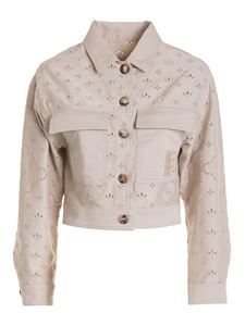Ermanno by Ermanno Scervino - Broderie anglaise cropped jacket in beige