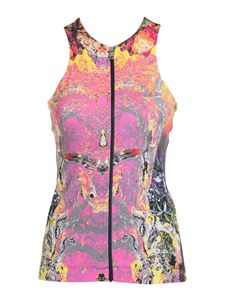 Just Cavalli - Abstract print zipped top