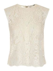 Self-Portrait - Lace top in ivory color